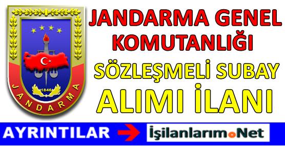 Jandarma Genel Komutanlığı Sözleşmeli Subay Alımı 2017