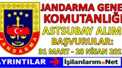 Jandarma Genel Komutanlığı Astsubay Alımı 2017