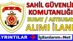 Sahil Güvenlik Komutanlığı Subay Astsubay Alımı 2017