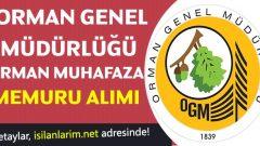 Orman Muhafaza Memuru Alımı 2017