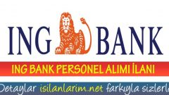 ING Bank Personel Alımı 2017 Devam Ediyor