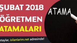 MEB Şubat 2018 10 Bin Öğretmen Ataması
