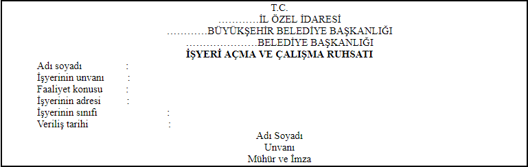 çalışma belgesi